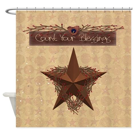 country star shower curtain primitive star shower curtain by mousefx