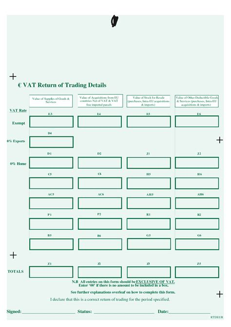 Vat Tommy Mcgibney S Tax Blog Vat Return Form Template