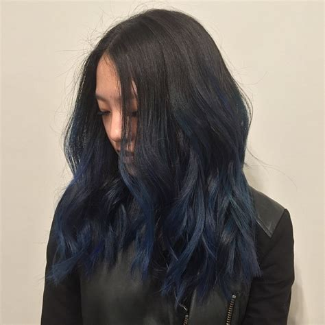 ohsococo a navy blue winter of navy hair color