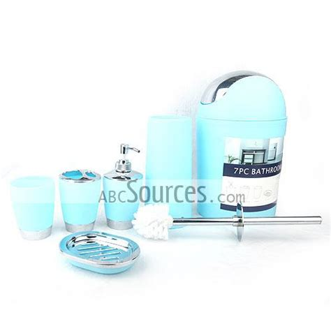 blue bathroom accessories sets wholesale 6 light peacock blue bathroom accessory