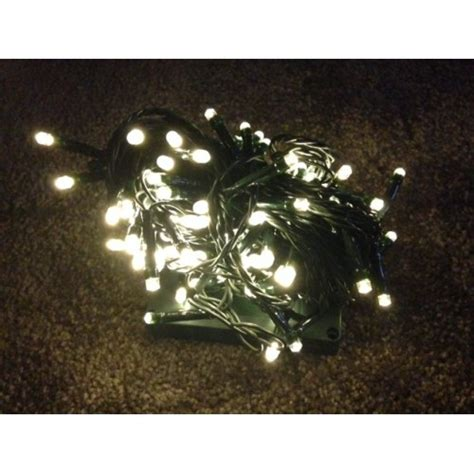 warm white led fairy lights green cable