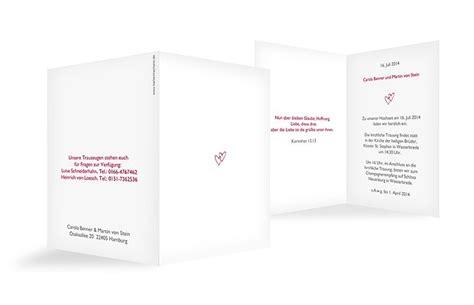 Hochzeitseinladungen Mit Herz by Hochzeitseinladung Quot Herz Quot