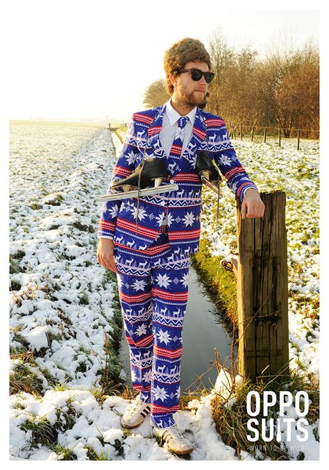 xmas pattern suit mens opposuits christmas sweater suit