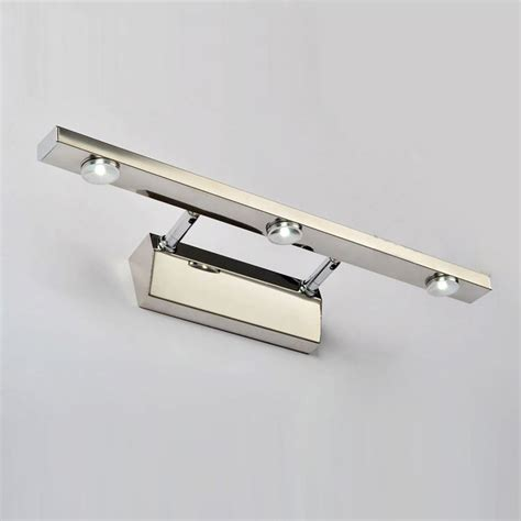 stainless steel bathroom light fixtures 3w led stainless steel bathroom wall l mirror front