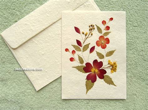 Paper Greeting Cards - wholesale greeting cards with pressed flowers jedicreations