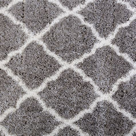 Shag Carpet Area Rug Rugs Area Shag Rug Modern Moroccan Trellis Lattice Floor Decor Shaggy Carpet Ebay