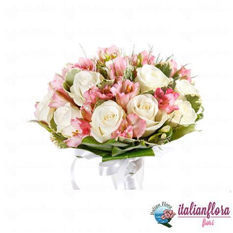e fiori vendita bouquet con bianche e fresie rosa consegna a