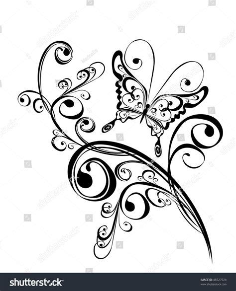 illustrator tutorial floral swirl ornaments butterfly floral ornament butterfly vector illustration element