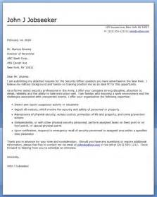 Security Cover Letter by Application Letter Sle Cover Letter Sle For Security Officer