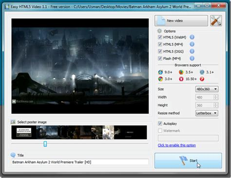 format video html5 convert videos into html5 formats upload to ftp with easy