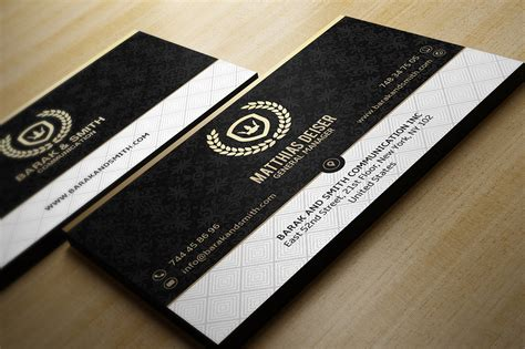 Black And Gold Business Card Templates Free by Gold And Black Business Card Business Card Templates On