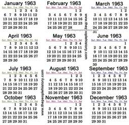 November 1963 Calendar What Happened In 1963 Inc Pop Culture Prices Significant