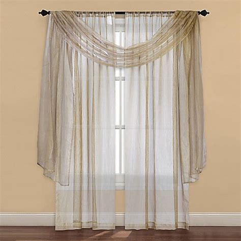 bed bath and beyond curtains and window treatments strive sheer window curtain panel and scarf valance bed