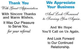 messages from business marbled business thank you note card on the promotions