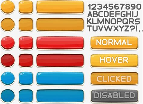 vector mod game download game button online game ui game ui interface design png