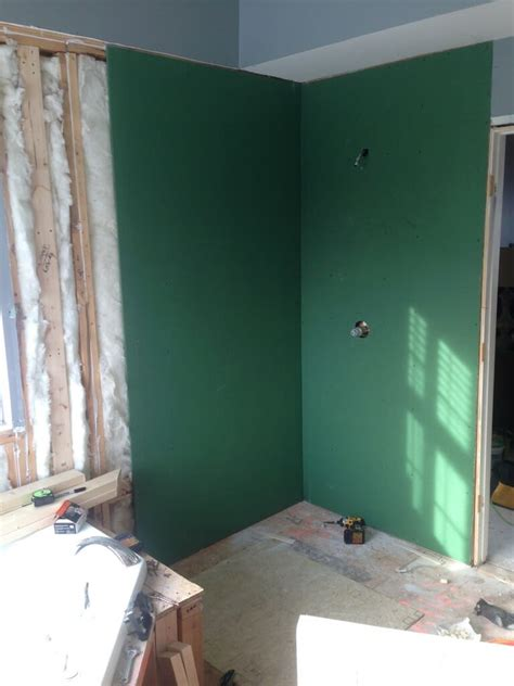 your guide to water resistant greenboard drywall modernize - Greenboard In Shower