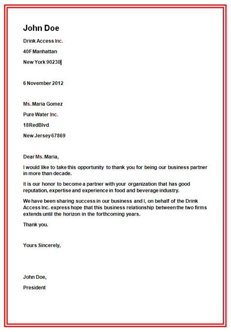 business letter format slim image