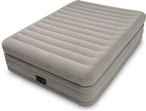 intex comfort intex fiber tech prime comfort queen size raised airbed