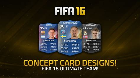 ultimate team layout potential fifa 16 ultimate team card designs fifa 16
