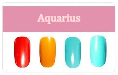 aquarius colors the right nail color based on your zodiac sign