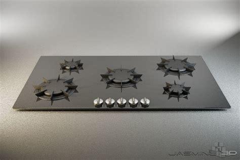 modern gas cooktop cooktop modern 3d max