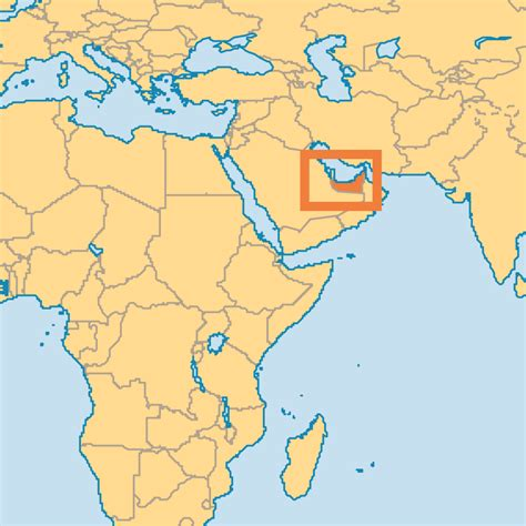 uae in world map united arab emirates operation world
