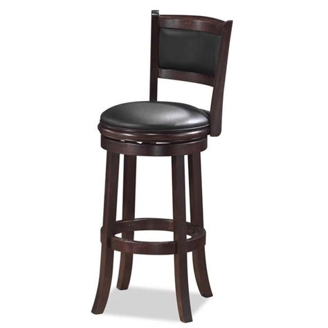 boraam augusta 29 quot swivel bar stool in cappuccino 48829