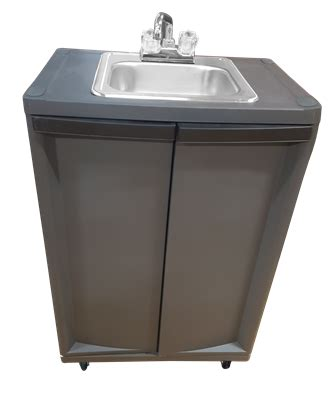 portable shoo sink with sprayer single compartment self contained sink