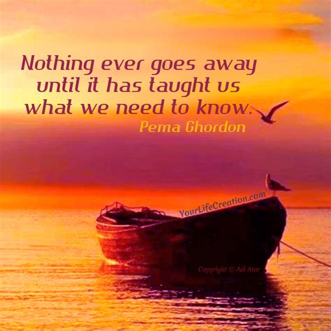 Goes It Or It by Nothing Goes Away Your Creation Self