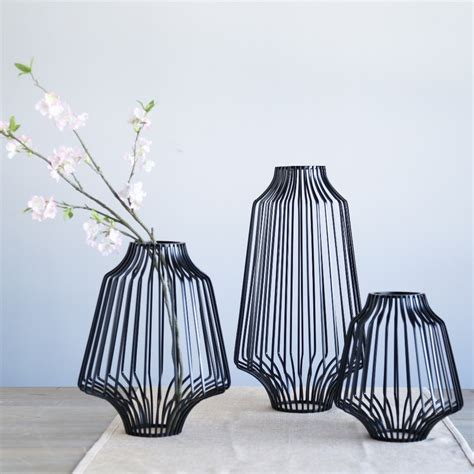 white black modern tabletop vase metal square flower plant 3 sizes black metal irregular round tabletop flower vases