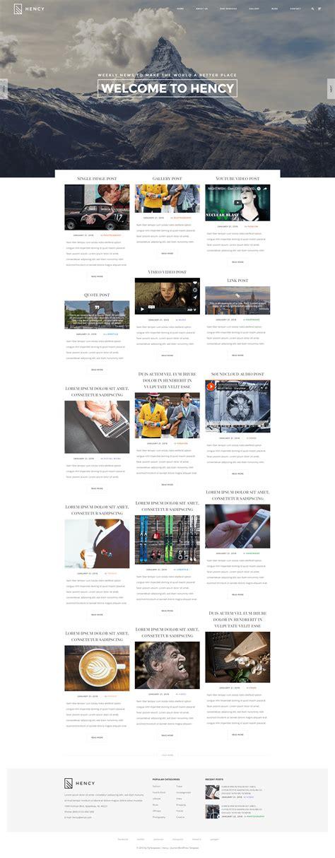 hency portfolio wordpress theme
