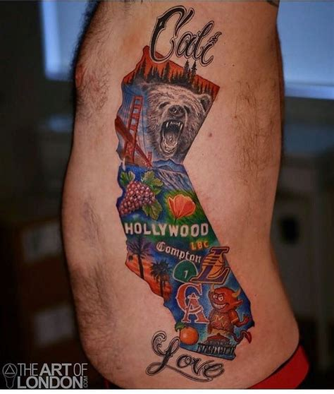 cali tattoos designs best 25 california tattoos ideas on