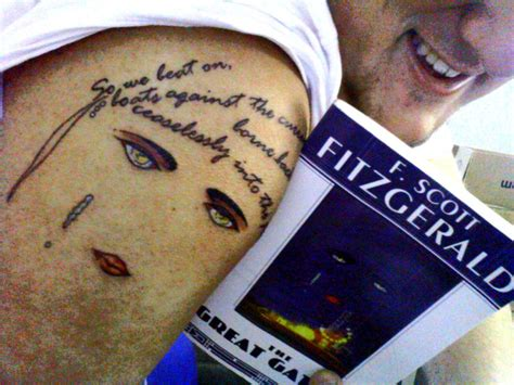 great gatsby tattoo the great gatsby contrariwise literary tattoos
