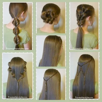 Easy Princess Hairstyles by 7 Easy Hairstyles Part 2 Hairstyles For