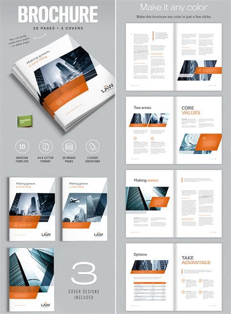 20 Best Indesign Brochure Templates For Creative Business Marketing Indesign Page Layout Templates
