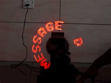 Lu Led Motor Spin rotating led message display system