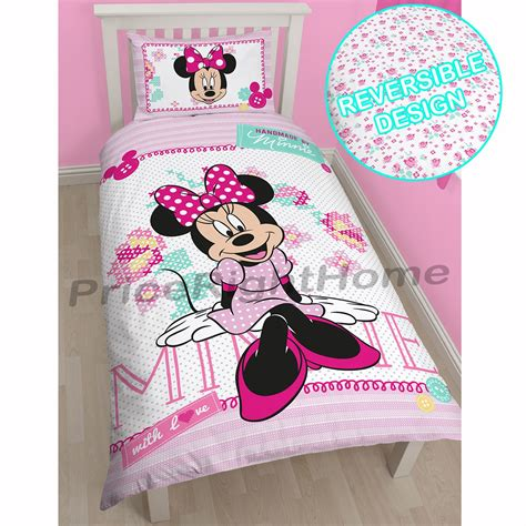 minnie mouse bed linen disney mickey or minnie mouse single duvet cover sets
