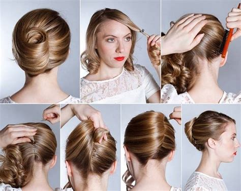Bun Keriting hairstyle banana twist diy alldaychic