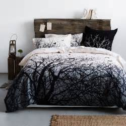 Tree Bedding Set Winter Tree Quilt Cover House Bedhead