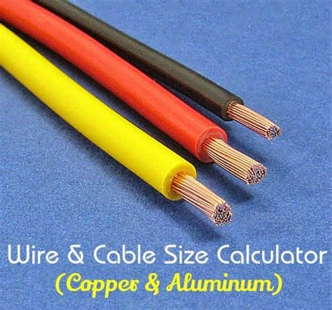 electrical wire cable size calculator copper aluminum