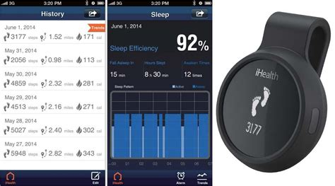 iHealth AM3 smart watch Wireless Activity & Sleep Tracker Black/Blue Bluetooth   eBay