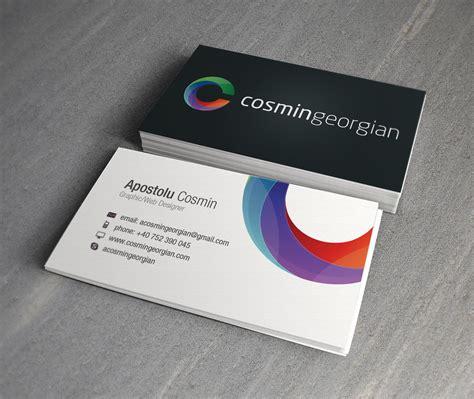 business card cosmin georgian business card