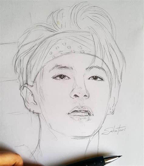 V Sketch Bts by Dmitrieva Designer Sakutori Portrait Of V In