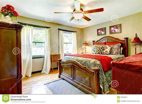 red and gold bedroom elegant bedroom with red and gold interior royalty free