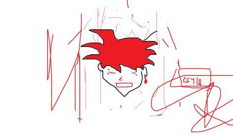 imagenes de goku fase dios para dibujar como dibujar la cara de goku fase dios en paint arte