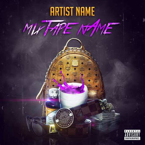 mixtape cover template free mixtape cover template chafik graphics