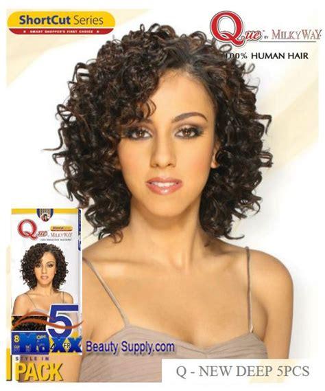 milkyway que quick weave hair styles milkyway que human hair weave short cut series q new