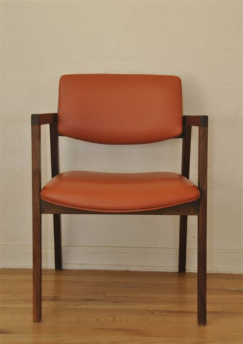 mid century desk chair mid century orange and walnut office desk chair trevi