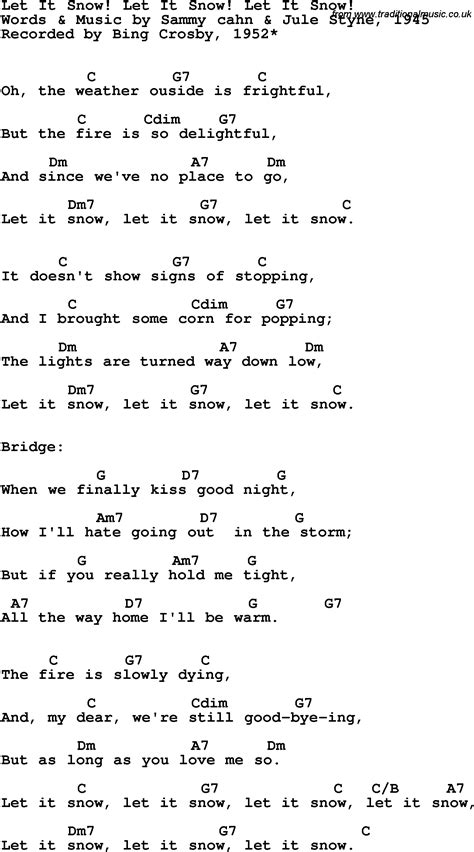 Let It Snow Chords