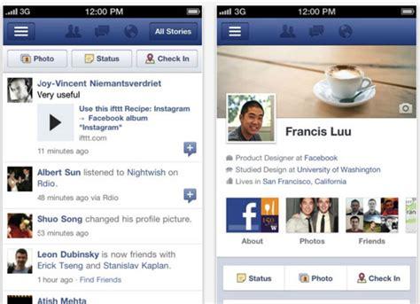 layout app for facebook the evolution of mobile app design usability geek